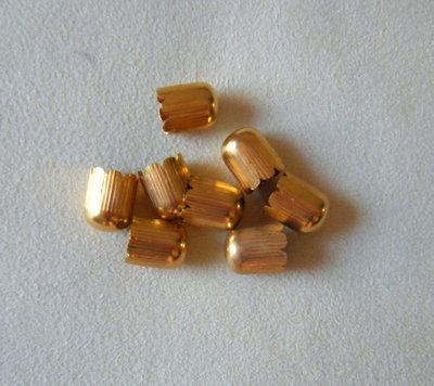 coppette ,copriperla,terminali colore oro 10 x 14 mm