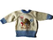 Maglioncino neonato con orsetto