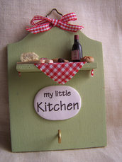 Targhetta My Little Kitchen