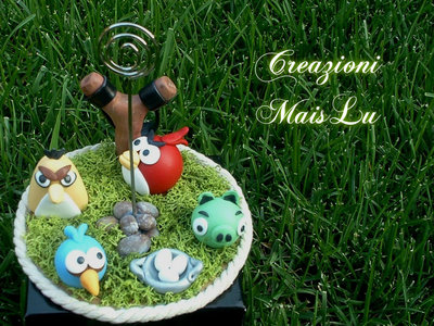 Mini Cake Topper Angry Birds in pasta di mais