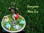 Mini Cake Topper Angry Birds in pasta di mais