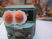 orecchini victorian style con rose di resina hand made