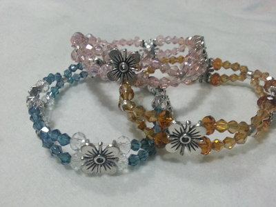 Bracciali elastici di perline vari colori