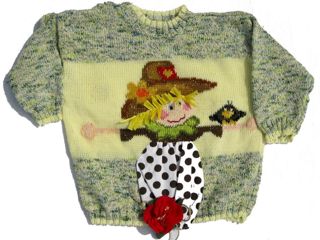 Maglioncino per bambina in cotone