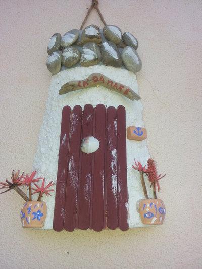 tegolina decorata a mano