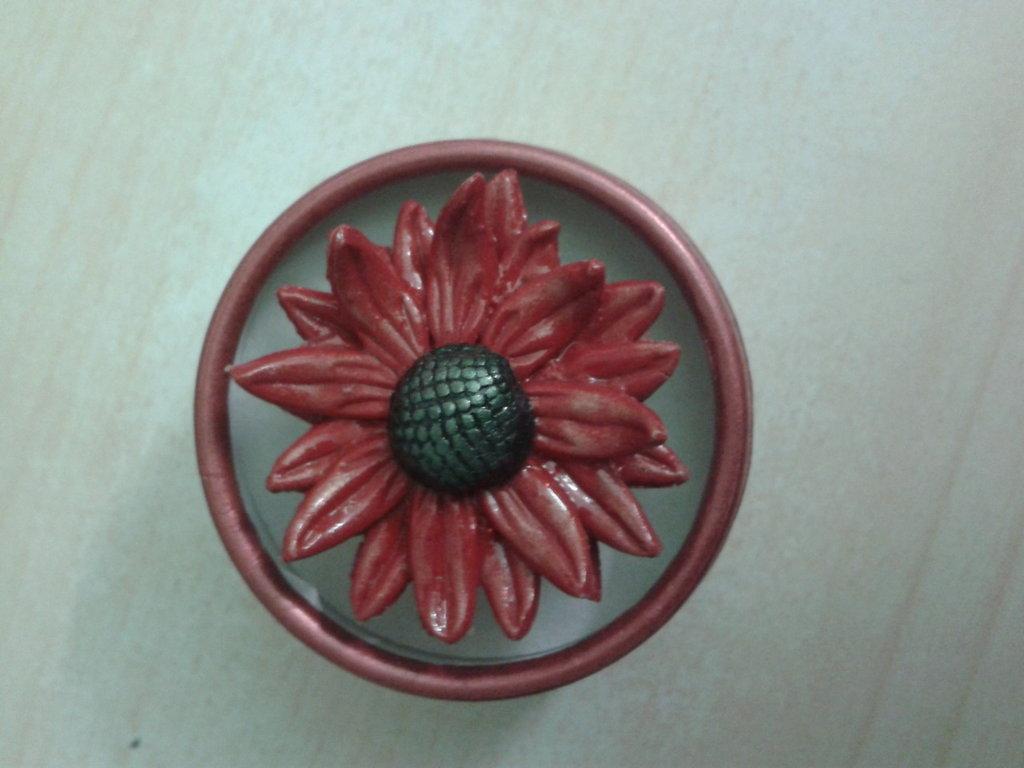 anello fimo rosso