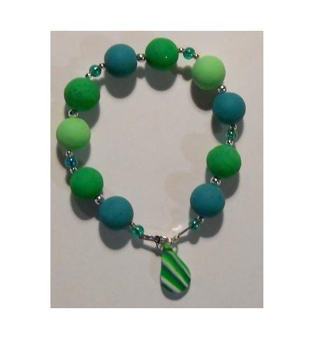 Bracciale elastico in Perle Fimo - Mod.a01 a scelta