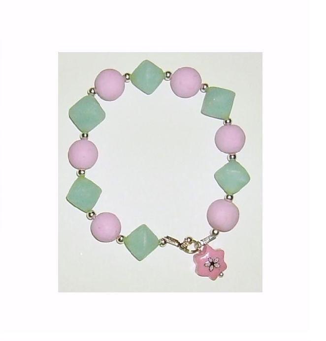 Bracciale elastico in Perle e Biconi Fimo - Mod.a05 a scelta