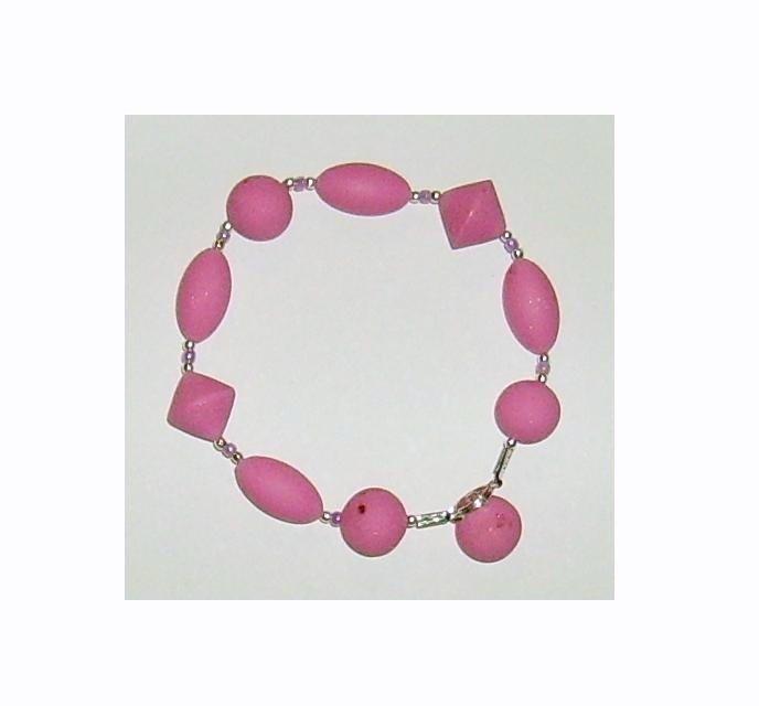 Bracciale elastico in Perle Biconi e Ovali Fimo - Mod.a07 a scelta