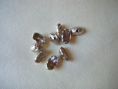 coppette ,copriperla,terminali colore argento 6 x 16 x 9 mm