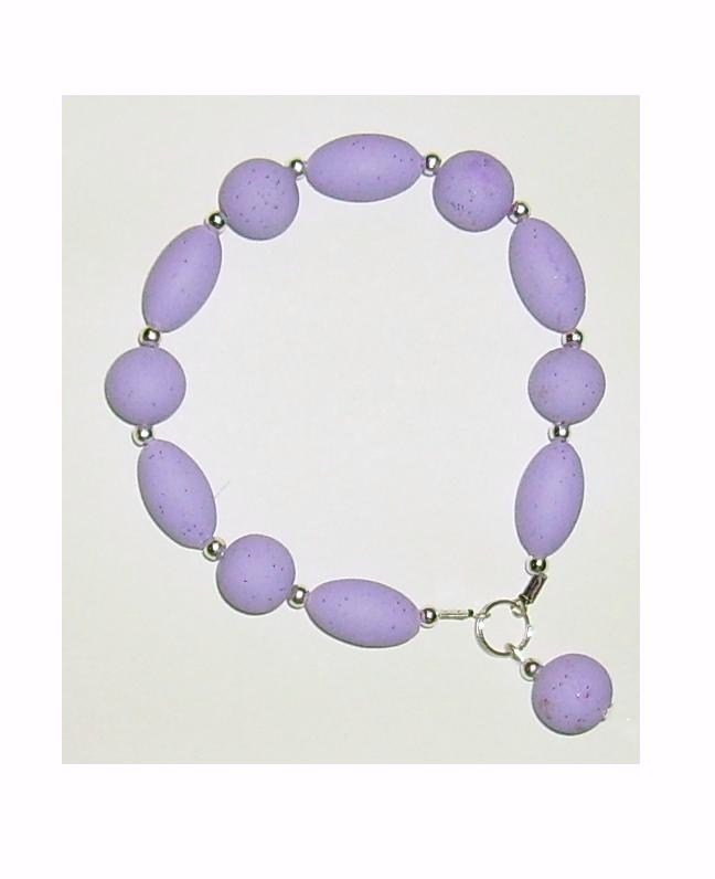 Bracciale elastico in Perle e Ovali Fimo - Mod.a04 a scelta