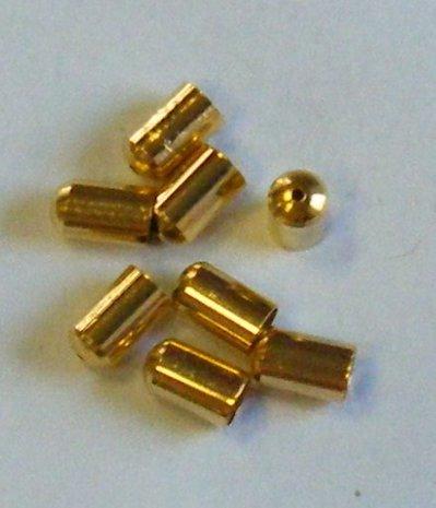 coppette ,copriperla,  terminali colore oro  10 x 6 mm
