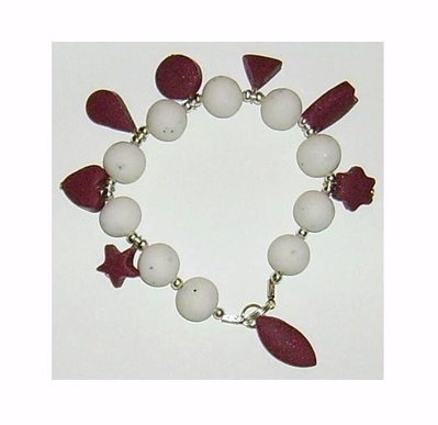 Bracciale elastico Perle e Charmes Fimo - Mod.a08 a scelta