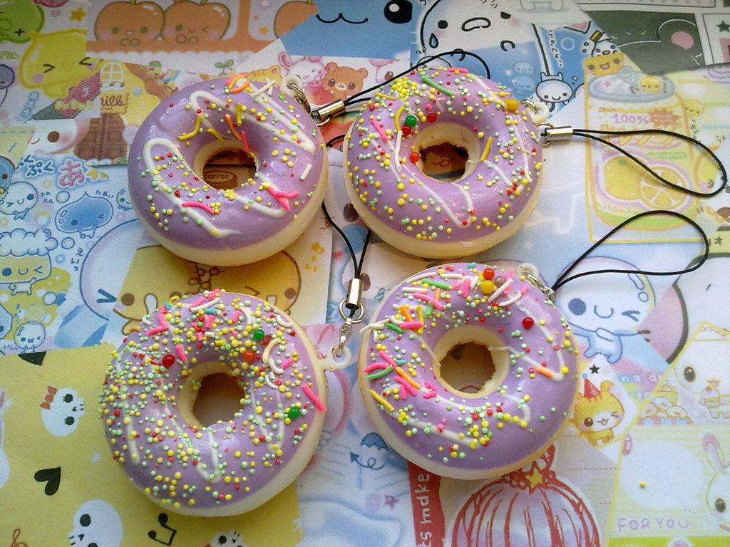 Squishy Doughnut Phone Charms/Key Chains Viola