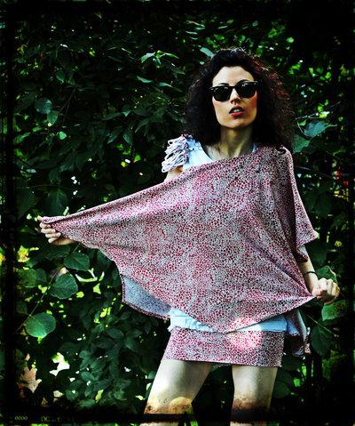 Maglia/poncho/kimono fatta a mano, pezzo unico