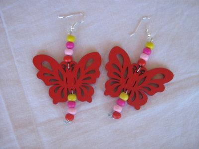 Orecchini farfalla rossa