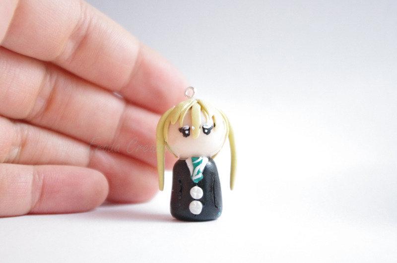 Maka - Soul Eater - Phone strap - Keychain - Bagcharm - Chibi - Fimo - Polymer Clay - Kawaii