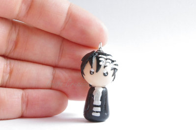 Death the Kid - Soul Eater - Phone strap - Keychain - Bagcharm - Chibi - Fimo - Polymer Clay - Kawaii