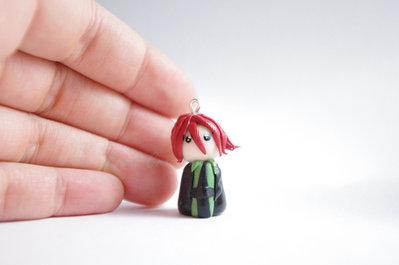 Spirit - Soul Eater - Phone strap - Keychain - Bagcharm - Chibi - Fimo - Polymer Clay - Kawaii