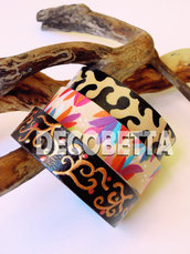 bracciali in legno decorati