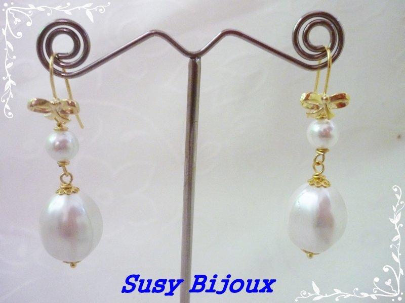 Orecchini in argento 925 perle barocche
