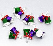 Ciondoli Campana di Natale Smaltato Colorato