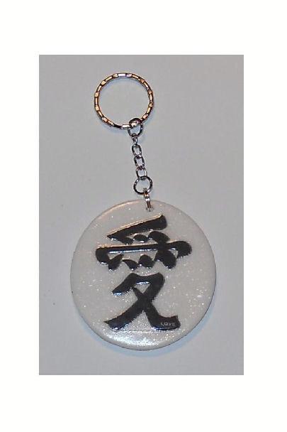 Portachiave in pasta fimo con ideogrammi - Japan Style