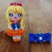 Ciondolo Sailor Venus fatto a mano in fimo (orecchini, braccialetto, portachiavi, collana)