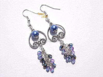 Orecchini perle azzurre idea regalo