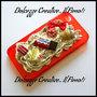 Cover Iphone 4-4s Rossa con panna, frutta, donut, finder fetta al latte e torta
