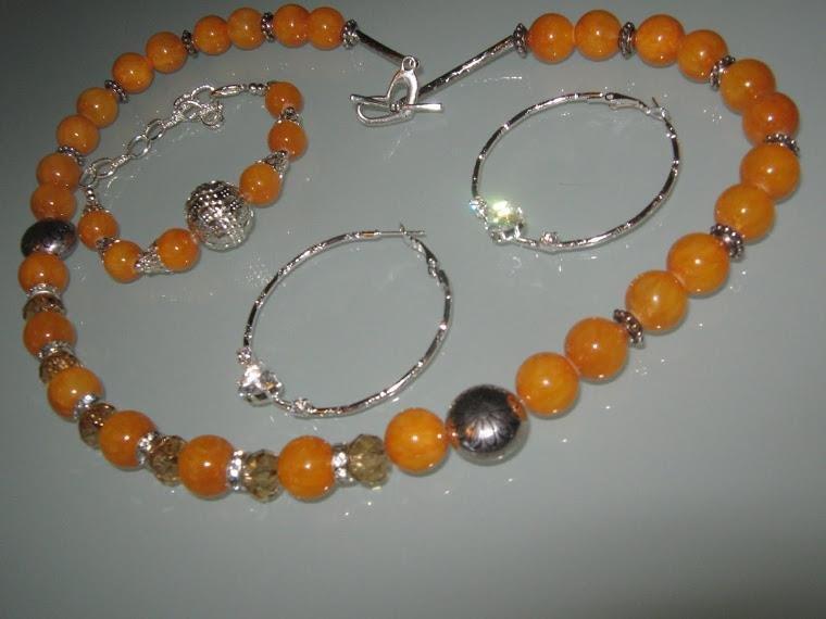 art 112 collana in giada naturale con orecchini in argento tibetano anallergico  e bracciale