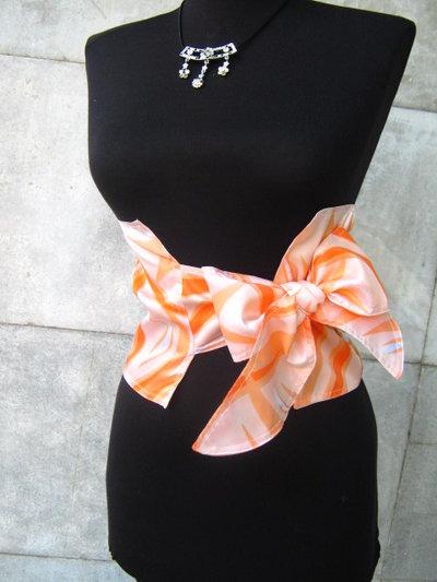 Corsetto cintura arancione