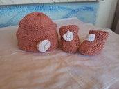 scarpine neonato con cappellino
