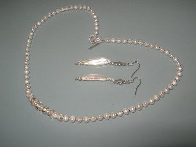 art 156 collana in perle di fiume naturali freschwater perarls e argento tibetano anallergico