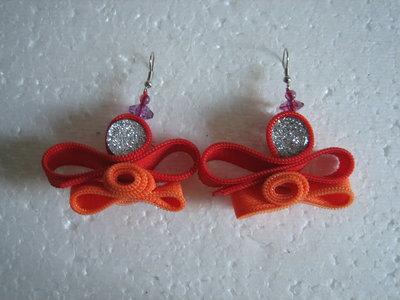 orecchini color arancione