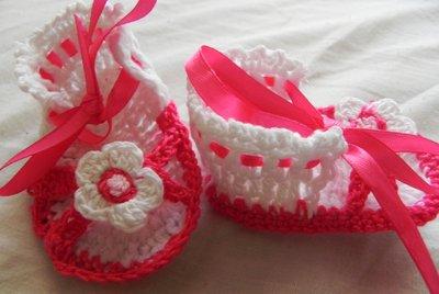 Sandali neonata uncinetto