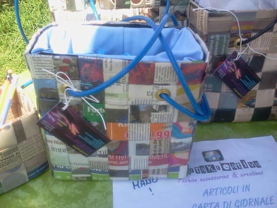 borsa di carta di giornale mod. KUBOmini 774