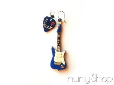 Orecchini Chitarra elettrica - Let's Rock! - 06 (b)