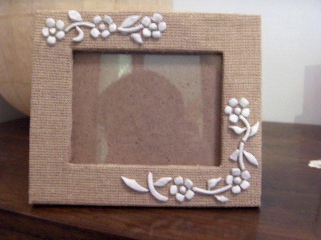 portafoto fiori bianchi