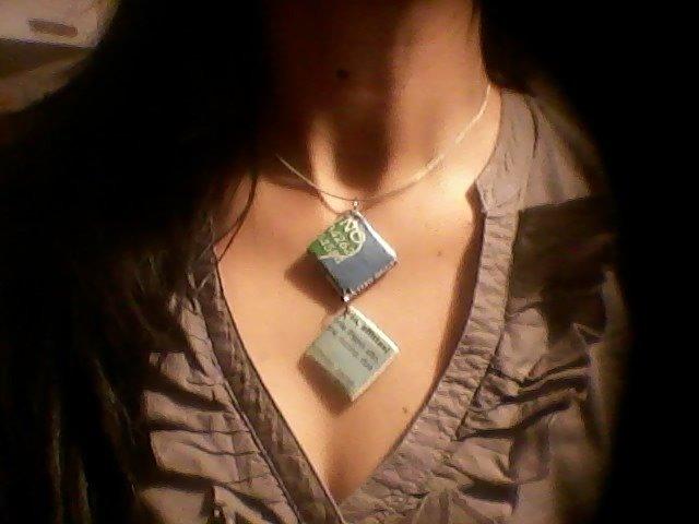 Collana girocollo con inserti di giornale mod.MARY