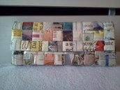 Pochette di carta di giornale intrecciata mod. POCHETTE 1013