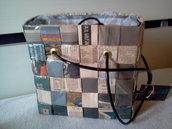borsa di carta di giornale mod. KUBOmini 663