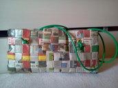 borsa di carta di giornale mod.OVAL-KALAMYT 1412
