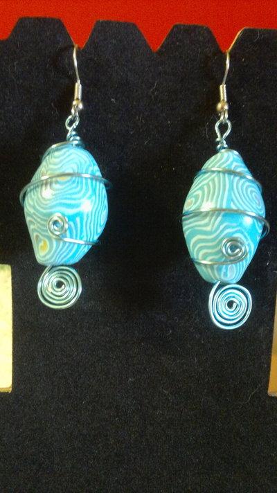 orecchini fimo-wire