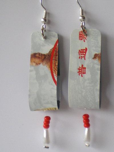 orecchini carta telefonica cinese