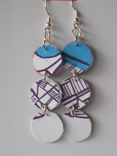 orecchini cerchietti azzurri