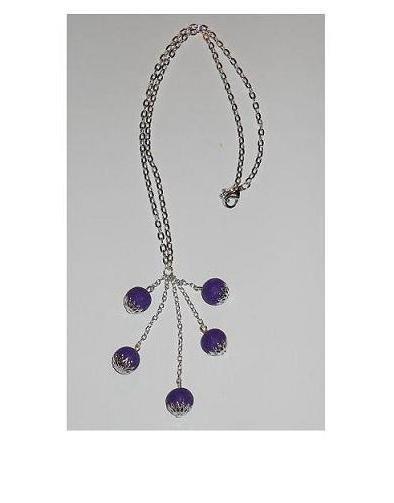 Collana con catena e perle di fimo con copriperla - mod.h01