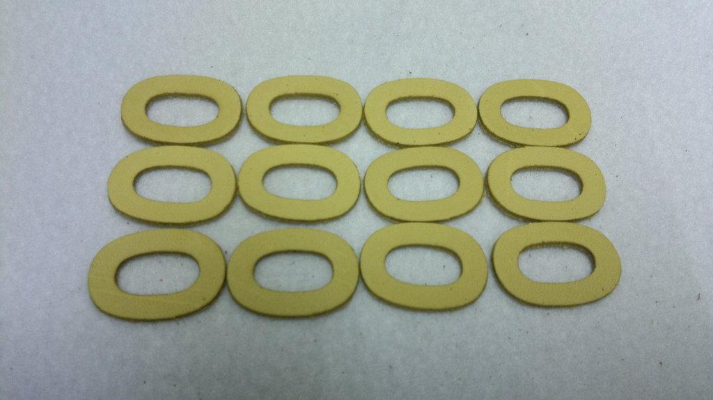 12 connettori ovali in pelle per uncinetto fettuccia