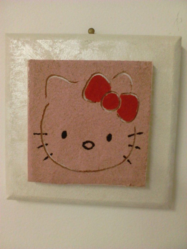 QUADRO IN SABBIA HELLO KITTY
