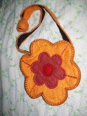 borsa fiore in feltro